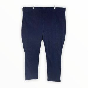NYDJ Alina Pull On Ankle Jeans Dark Blue Stretchy